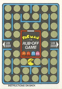 Pac-Man Rub-Off Game