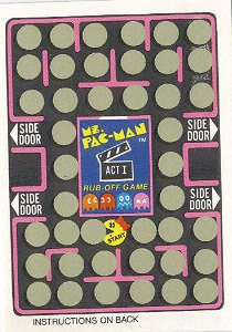 Ms. Pac-Man Rub-Off Game